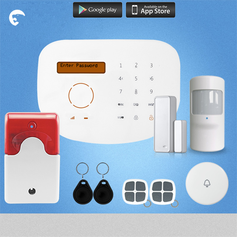 Etiger S2G GSM Alarm System For Home Wired Siren Kit Alarm APP Control Wired Siren etiger gsm pstn intruder alarm system for home office wifi network camera ir beam detector 100m