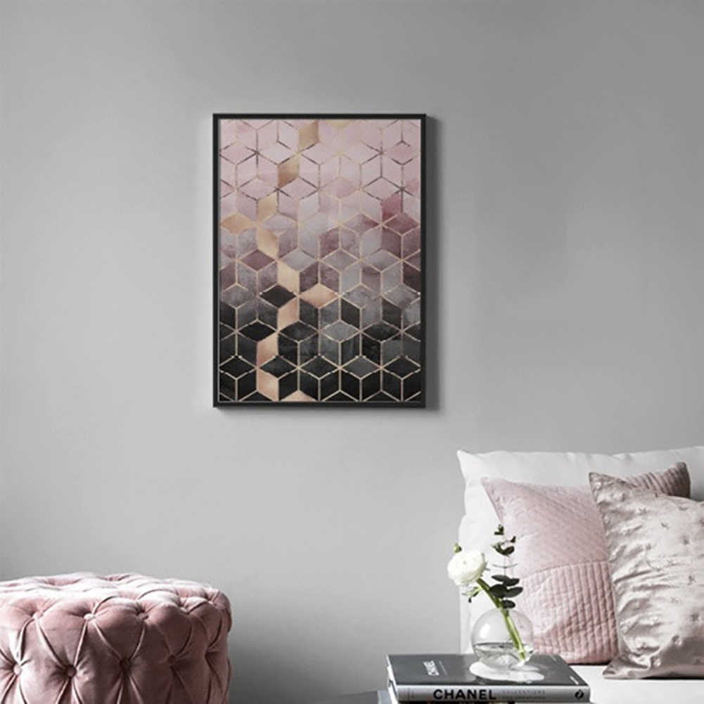 Gradient Cubes Art Wall Poster Picture Painting Bedroom Living Room Home  Decor Decorative paintings