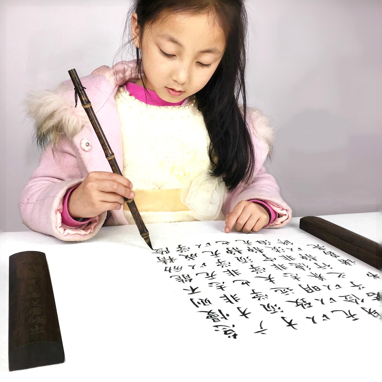 2pcs Hot Sale Natural Bamboo Pure Mouse Whisker Chinese Brush Pen Small Regular Script Brush Calligraphy Pen Writing Brushes цена