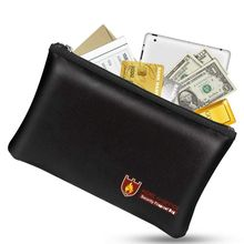 Fire Resistant Document Bag Fireproof Protection Bag Pouch Money Files Safety, 34x25cm