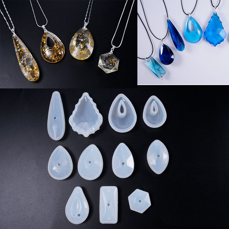 1PC 3D Pendant DIY Necklace Jewelry Mold Pendants Crystal Scale Jewelry Resin Molds For Jewelry Making Tool