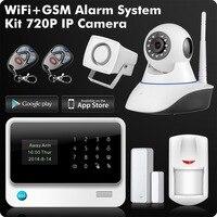 G90B плюс 2.4g WiFi GSM GPRS SMS беспроводной бизнес дома охранной сигнализации системы с IP камера приложение дистанционное управление детектор датчи