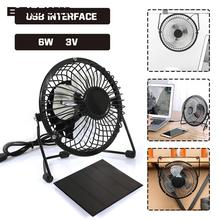 Portable Solar Pane with Fan USB Fan Solar Charger Pane Travel Player Solar Charger 4inches Fan 3W 6V Waterproof