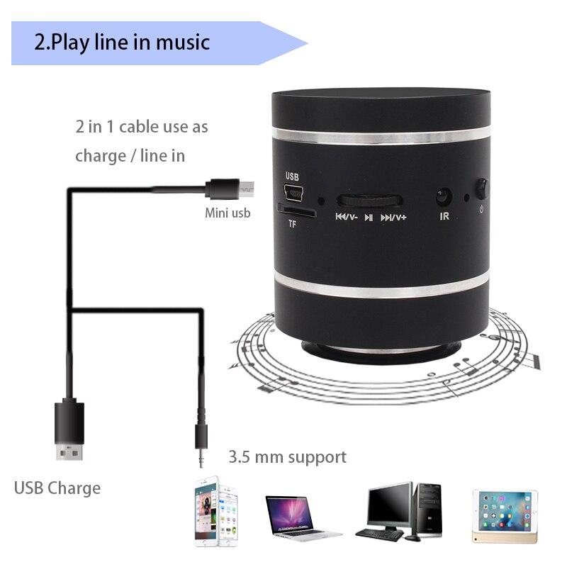 Adin 15 W Bluetooth 4.0 Mini haut-parleur Portable de Vbration Audio multimédia FM Radio basse haut-parleur sans fil extérieur pour ordinateur PC - 4