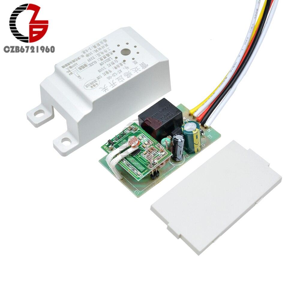 AC 220V automatyczny Radar mikrofalowy przełącznik czujnikowy PIR przełącznik czujnika ruchu przełącznik czujnikowy na podczerwień detektor ludzkiego ciała On Off włącznik światła LED