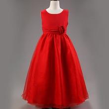 2015 новый дешевый летние платья для девочки 2 — 16 возраст девочек принцесса ну вечеринку одежда цветок девочка платье для свадьбы бесплатная доставка