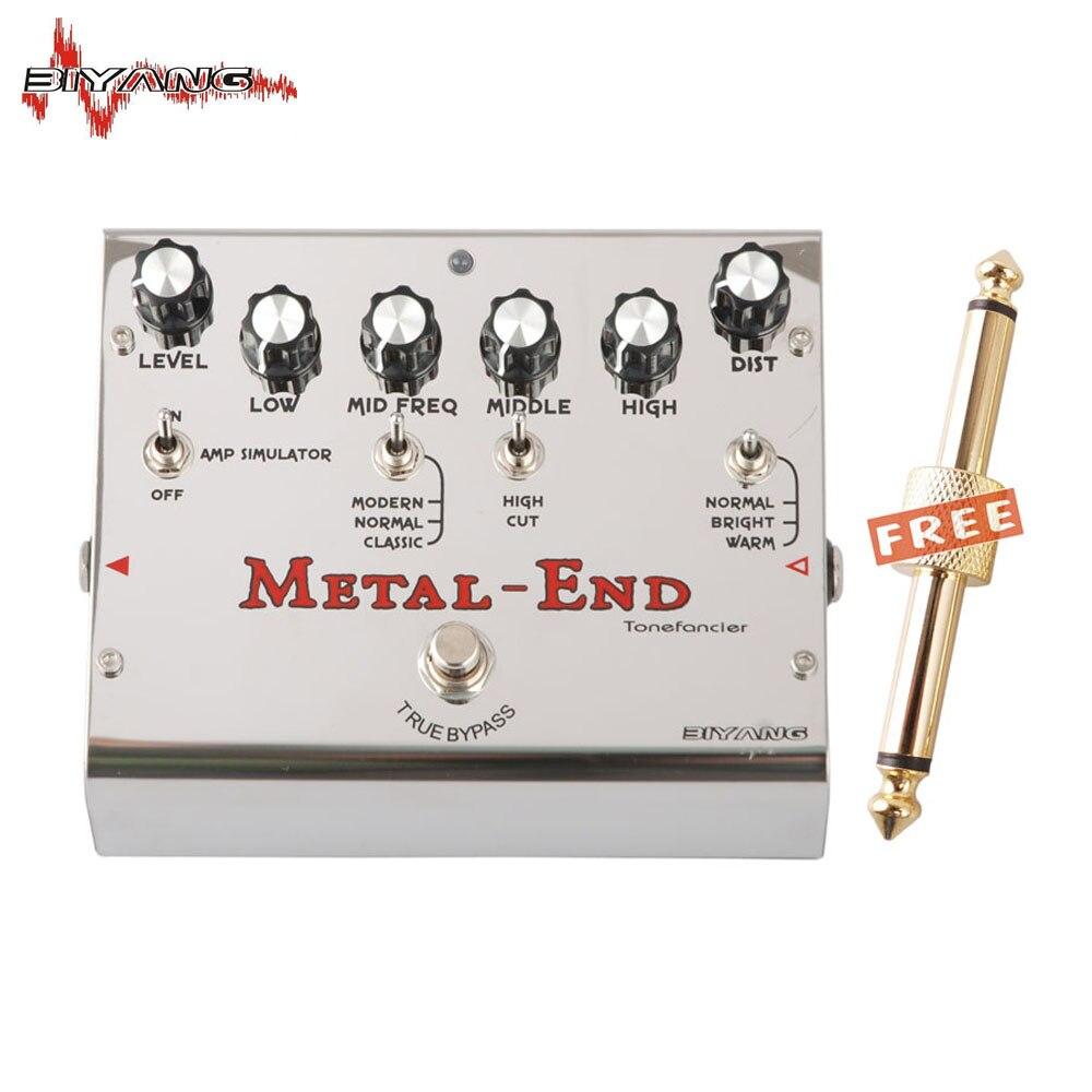 Biyang Tonefancier Métal Fin Roi Distorsion Électrique Pédale Effet Guitare True Bypass Tout Neuf 460 D