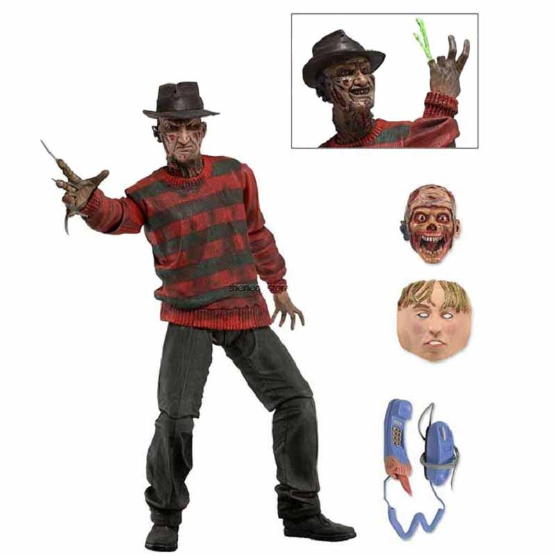 A Nightmare On Elm Street Freddy Pvc Action Figure Toy Anime Dracula Movie Freddy Collection Juguetes Halloween Toy Gift поводок для собак happy house luxury цвет темно коричневый длина 125 см