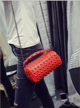 Fashion Rivet PU Leather Bag Women Messenger Bags Female Crossbody Bags Clutch Purse and Handbag Bolsa Feminina Dollar Price стоимость