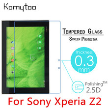 "Z2 9H 0.3mm Toughened Tempered Glass For Sony Xperia Z2 Tablet  10.1"" Tablet PC Delicate touch Film Clear Screen Protector"