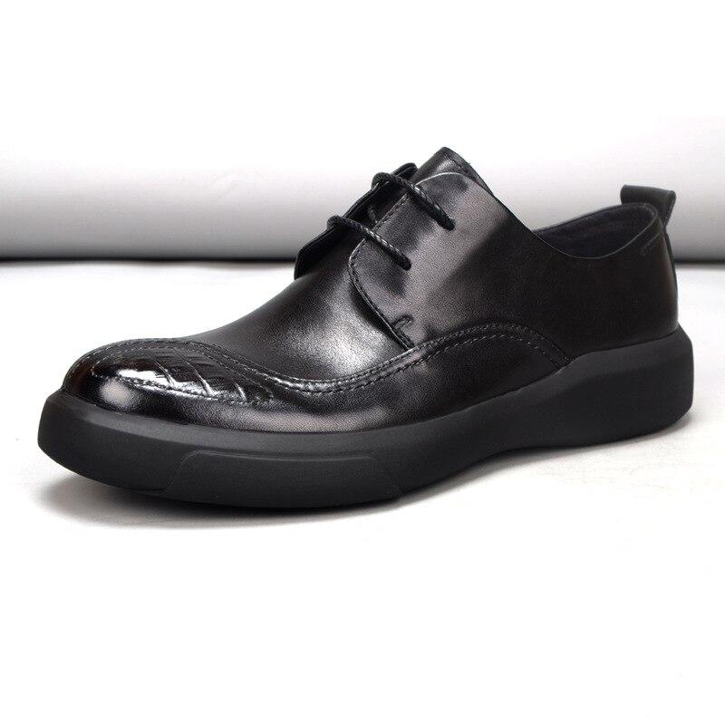 Masculinos Queda Negócios Britânico Loafer Os Preto Verão Todos Sapatos Retrô Casuais De Homens Outono Genuína Primavera Jogo Couro BqSWzw1U