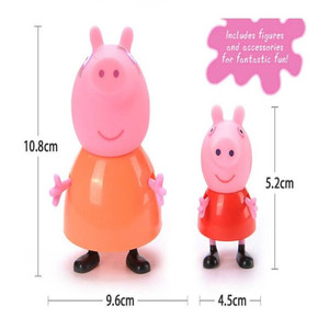Image 2 - 4pcs/set Peppa pig Family George Pig Action Figure Original Family  Dad Mom Pig Model Doll Birthday Christmas Gift Kid for Toys