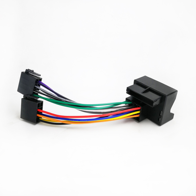 biurlink for ford iso wiring harness stereo radio plug leading wire loom  connector adaptor