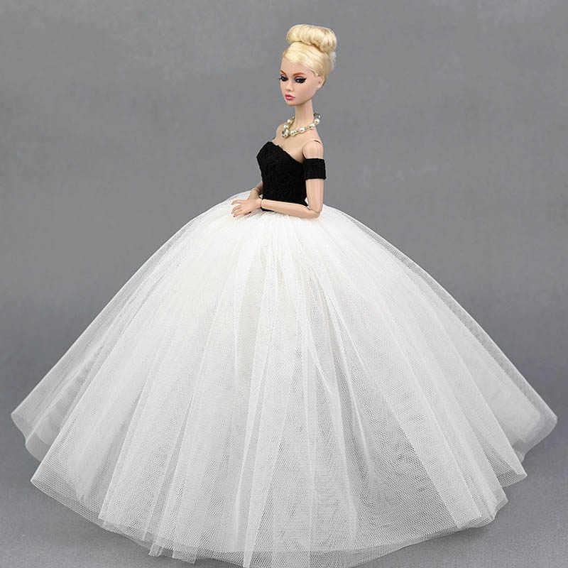 Платье для девочек костюм элегантное дамское свадебное платье для Барби Одежда для кукол 1/6 BJD кукла платье es подарок игрушка