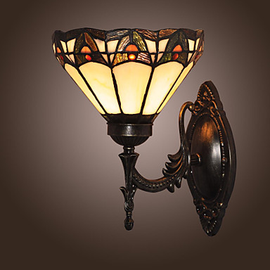 Tiffany Stytle Vintage Wall Lamp Lights For Home Lighting LED Wall Sconce Lampara Pared in tiffany style led wall lamp lights for home indoor lighting angel fish design wall sconce lampara de pared e26 e27