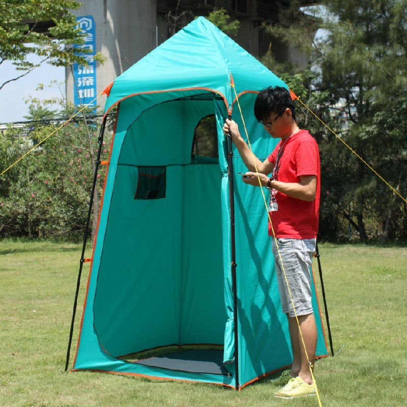 high quality portable camping shower tent awning canvas folding outdoor toilet room privacy showing changing clothes tente