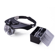 New Portable 6X Head Eye Led Magnifier Loupe Jewelers Fond Magnifying Watch Watchmakers Free Shipping цены