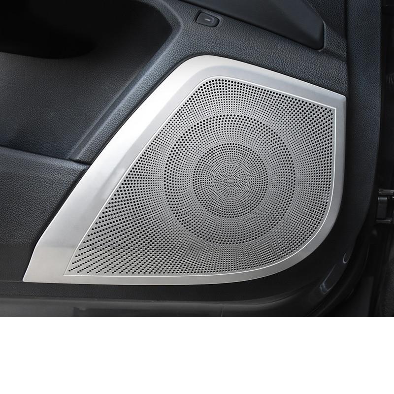 Lsrtw2017 filet de couverture de lecteur de son de porte intérieure de voiture en acier inoxydable pour Acura RDX 2019