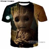 PLstar Cosmos 2017 De Nieuwe unisex t-shirt Guardians van de Galaxy 3D printing mannen tshirt Baby Groot harajuku vrouwen tee shirt