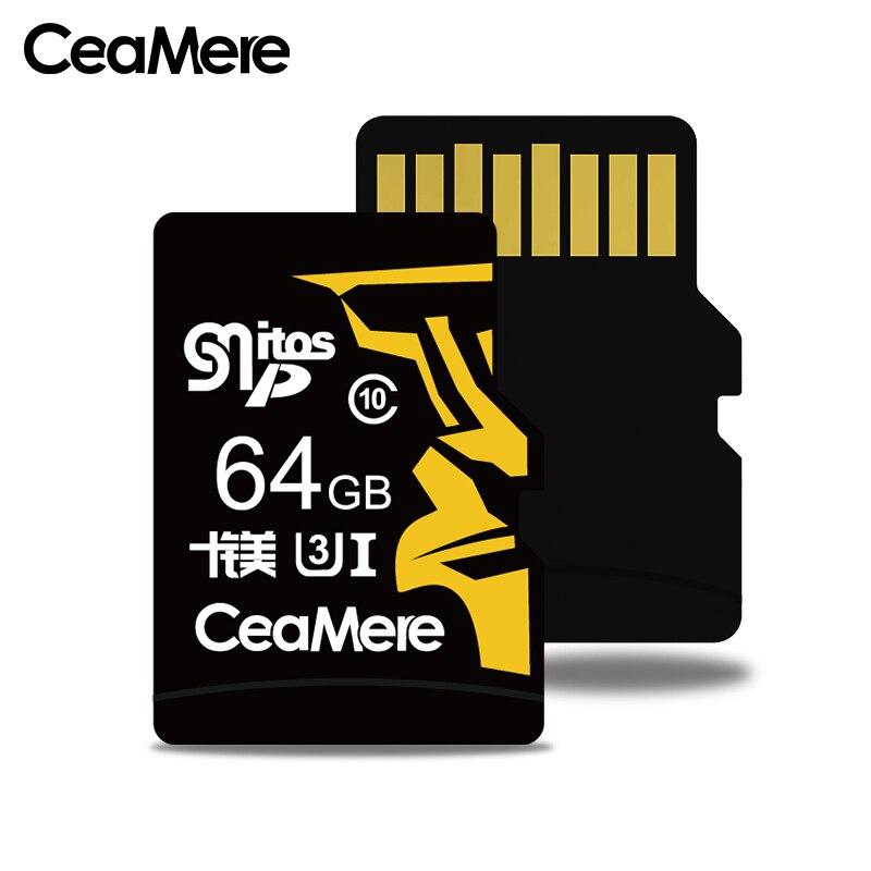 Image 3 - CeaMere 256 ГБ 128 Гб 64 Гб карта памяти U3 UHS 3 32 ГБ Micro sd карта класс 10 UHS 1 флэш карты памяти Microsd TF/sd карта s для планшета-in Карты памяти from Компьютер и офис