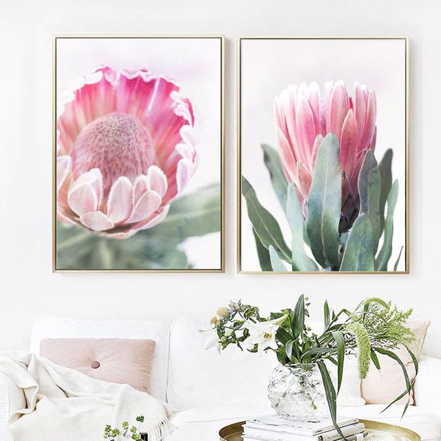 Pink Tulip Love Quote Nordic Posters And Prints Flower Wall Art 1