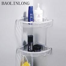 BAOLINLONG Space Aluminum Shelf Brushed Bathroom Shelves Cosmetic Accessories