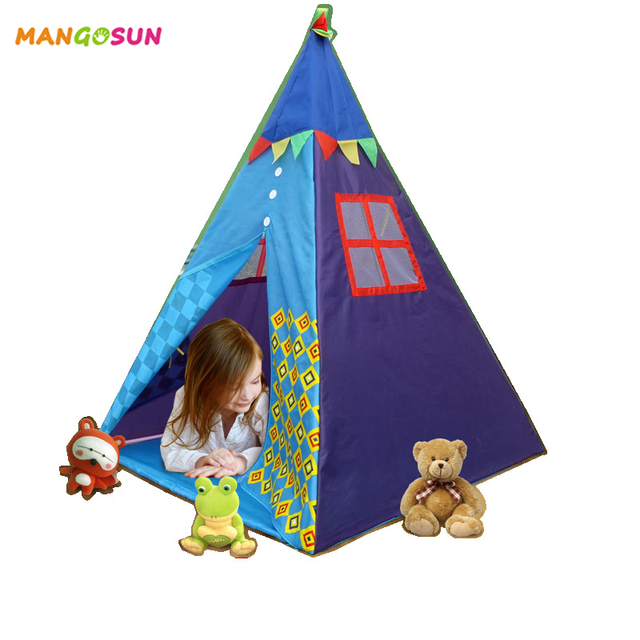nouveau tipi tente pour enfants jouet indien tipi tentes. Black Bedroom Furniture Sets. Home Design Ideas
