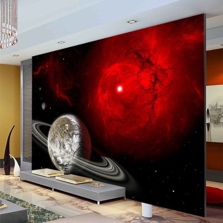 Space themed wall murals home design for Custom photo mural
