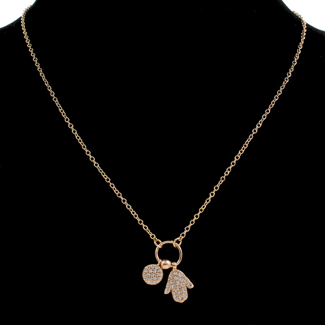 Women Necklace Famous Jewelry with 5cm extender chain Hamsa real