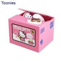 Electric Music Stealing Money Box Cat Mini Coin Bank Children S Dolls Creative Gift Safe Box