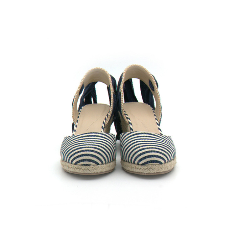 Office & School Supplies Summer New Women Shoes Slope Hemp Rope Straw Woven Single Shoes Straps Women Sandals Shock Absorbant Danc Shoes Woman We Take Customers As Our Gods