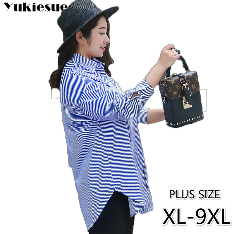 fashion woman   blouses   2019 Striped blusas women top womens tops and   blouses   women's   blouse     shirt   female   shirts   plus size 9XL