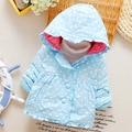 Хлопок 2016 новый женский ребенка зимнюю куртку из девушек Детские маленькие дети пальто хлопка хлопка-ватник 0-1-2 детские куртки