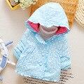 Algodón 2016 nuevo bebé femenino chaqueta de invierno de las muchachas Del Bebé niños pequeños de la chaqueta de algodón acolchado chaqueta 0-1-2 bebé chaqueta