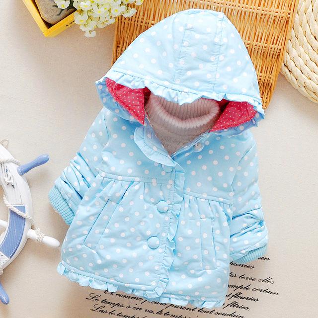 Jaqueta de inverno do bebê do algodão 2016 do sexo feminino novo casaco de algodão das meninas Do Bebê crianças de algodão-acolchoado jacket 0-1-2 bebê jaqueta