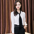 Blusas chiffon 2017 office ladies work wear shirts for women big size korean-fashion women's summer blouses plus size S5315