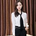 Blusas de chiffon 2017 senhoras escritório desgaste do trabalho camisas para mulheres tamanho grande coreano-moda das mulheres blusas de verão mais tamanho S5315