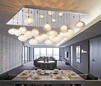 Модный дизайн современный пузырь 80 см кулон свет освещение droplight столовая вечерние Вечеринка комната ZL322