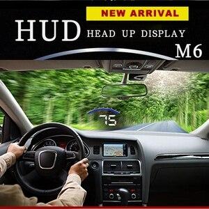Image 4 - جهاز عرض GEYIREN M6 برأس يصل إلى 3.5 بوصة مزود بشاشة عرض من الزجاج الأمامي OBD2 EUOBD شاشة عرض بيانات قيادة السيارة سرعة دورة في الدقيقة درجة حرارة الماء عرض HUD للسيارة