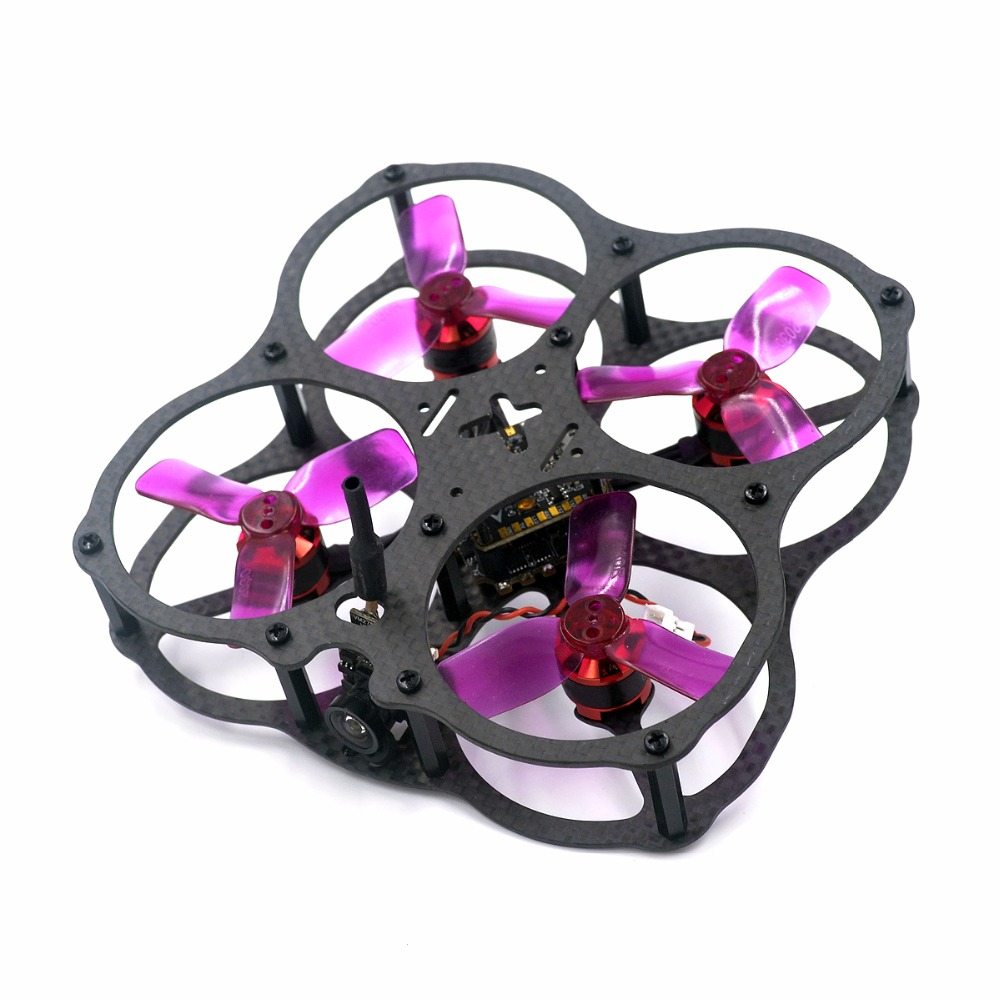 X2 UFO full encircling Carbon Fiber frame 78mm  unassembled for DIY FPV  indoor cross racing micro brushless quadcopter drone diy fpv mini drone qav210 zmr210 race quadcopter full carbon frame kit naze32 emax 2204ii kv2300 motor bl12a esc run with 4s