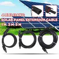 Swilet 1 Pcs 1/3/5 M Zonnepaneel Verlengkabel Koperdraad Zwart En Rood Met Connector solar Pv Kabel-in Connectoren van Licht & verlichting op