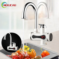 Kitchen Electric Tankless Water Heater Instant Heating Faucet Instantaneous Water Heater Kitchen Faucet 220V 3000W