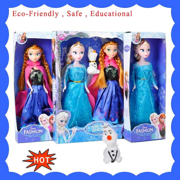 Doll Toys Gift For Girls Baby Kids Children Lovers Olaf Princess Fever Bonecas Princesa Elsa e
