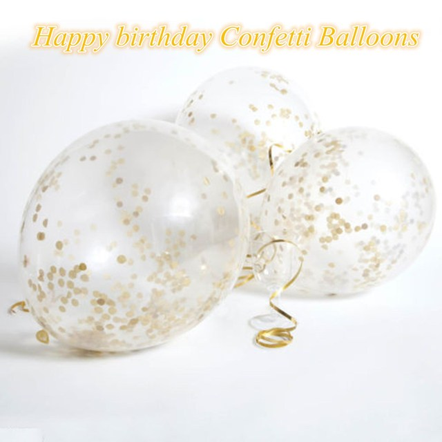12 inch clear latex confetti balloons 20pcsset golden helium 12 inch clear latex confetti balloons 20pcsset golden helium balloons supplies wedding birthday party junglespirit Image collections