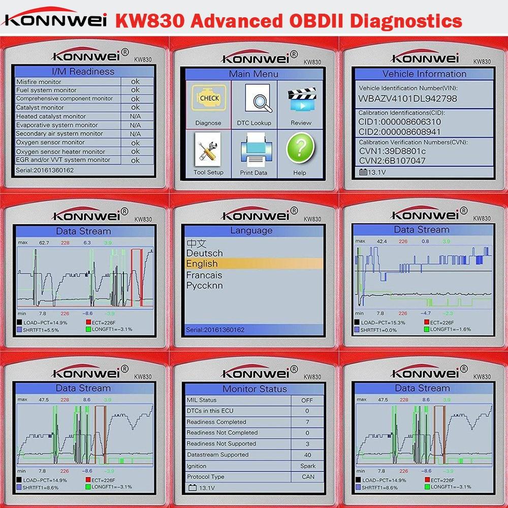 Image 3 - Заводская цена OBDII EOBD CAN Сканер Инструмент KW830 авто код ридер odb2 диагностическая работа для автомобиля Renault лучше, чем MaxiScan MS509 on AliExpress - 11.11_Double 11_Singles' Day