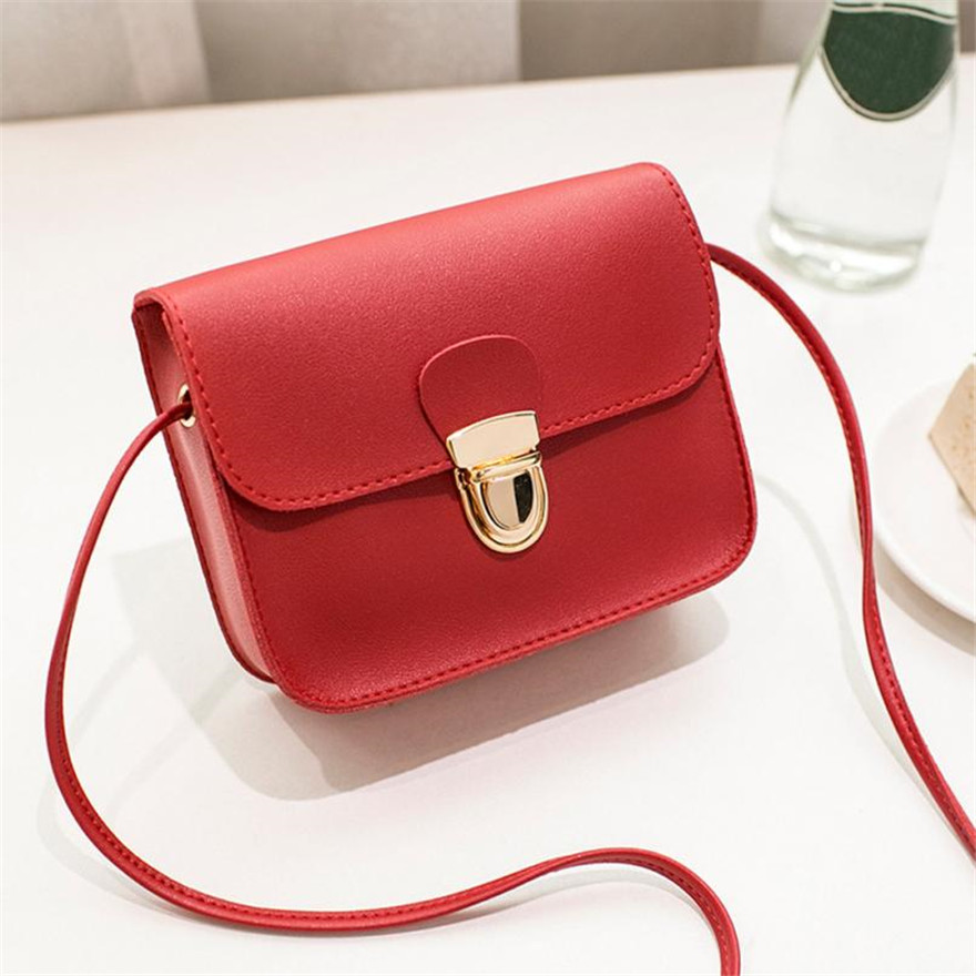 MOLAVE Handbag Bag Female Solid Bags for Girls Hasp Women Fashion PU Leather Cover Messenger Shoulder Bag Clutch Bags May25 high quality woman handbag sequined lipstick pattern diagonal shoulder bag daily clutch female girls pu leather messenger bags
