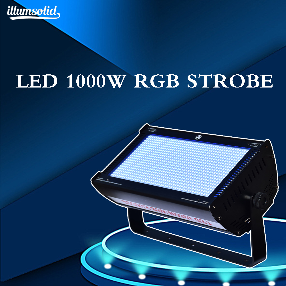 DMX 512 1000W RGB LED Strobe High Brightness Indoor Stage Lighting