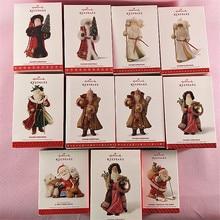 מקורי 1 יחידות 8 10 אבא חג המולד סנטה פעולה איור אסיפה דגם צעצוע חג המולד עץ קישוט צעצועי מתנה לחג המולד