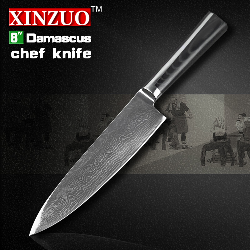 8 inches chef font b knife b font 73 layers Japanese VG10 Damascus steel kitchen chef