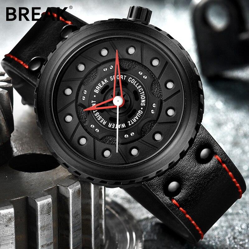 BREAK Luxury Brand Men Crazy Speed Sports Watches Man Rubber Strap Casual Fashion Geek Creative Gift Analog Quartz Wristwatch 5